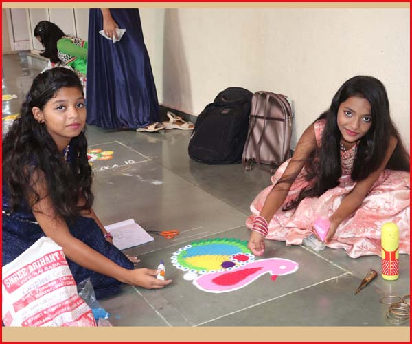 DIWALI CELEBRATION AND RANGOLI COMPETITION